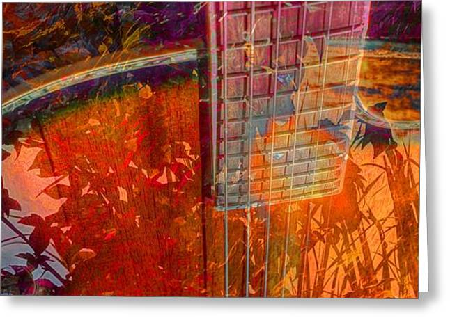 Acoustic Dreams Digital Guitar Art by Steven Langston Greeting Card by Steven Lebron Langston