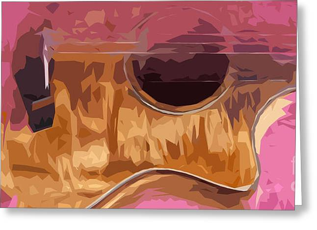 Guitarra Greeting Cards - Acoustic Guitar 3 Greeting Card by Pablo Franchi