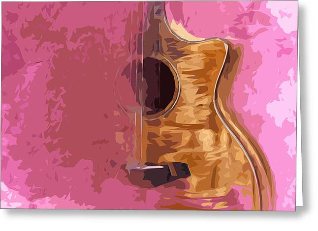 Guitarra Greeting Cards - Acoustic Guitar 5 Greeting Card by Pablo Franchi