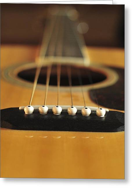 Kitchen Photographs Greeting Cards - Acoustic Guitar Color Greeting Card by Terry DeLuco