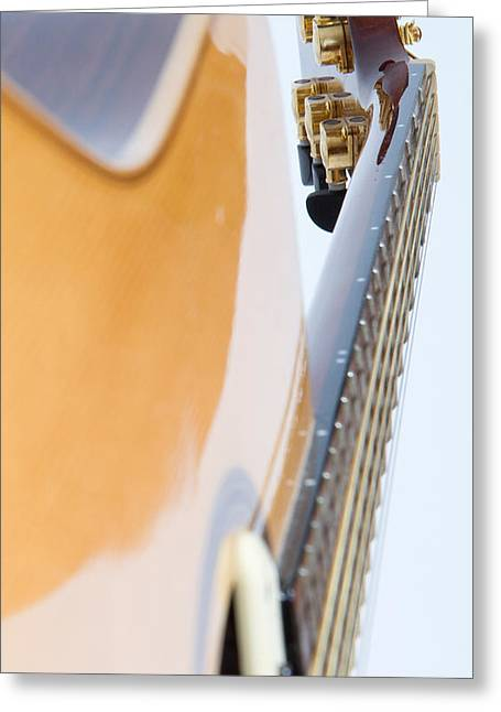Acoustical Photographs Greeting Cards - Acoustic guitar Greeting Card by Michael Charles