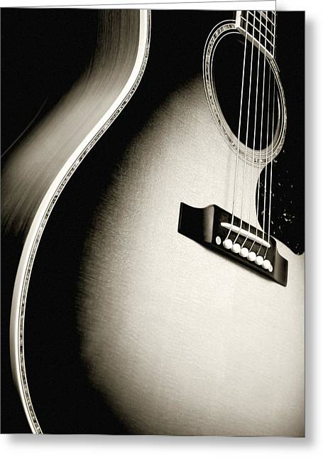 Folk Music Greeting Cards - Acoustic guitar Greeting Card by Ron Sumners