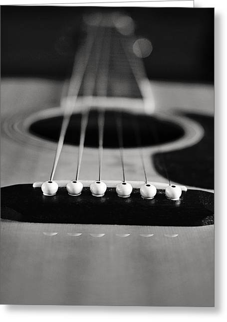 Hostess Greeting Cards - Acoustic Guitar Greeting Card by Terry DeLuco