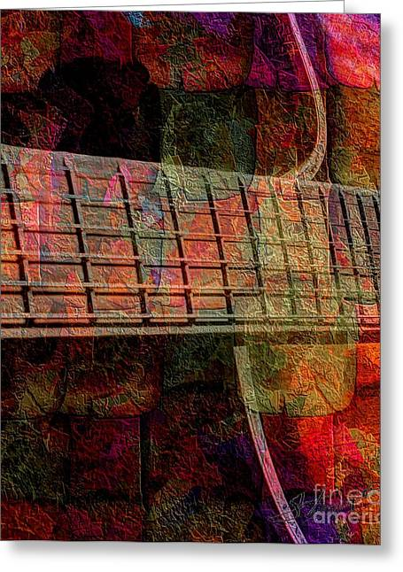 Acoustical Digital Art Greeting Cards - Acoustic Palette Digital Guitar Art by Steven Langston Greeting Card by Steven Lebron Langston