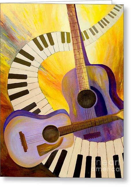 Acoustics In Space Greeting Card by Larry Martin