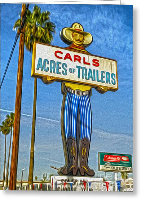 Gregory Dyer Greeting Cards - Acres of Trailers 2 Greeting Card by Gregory Dyer
