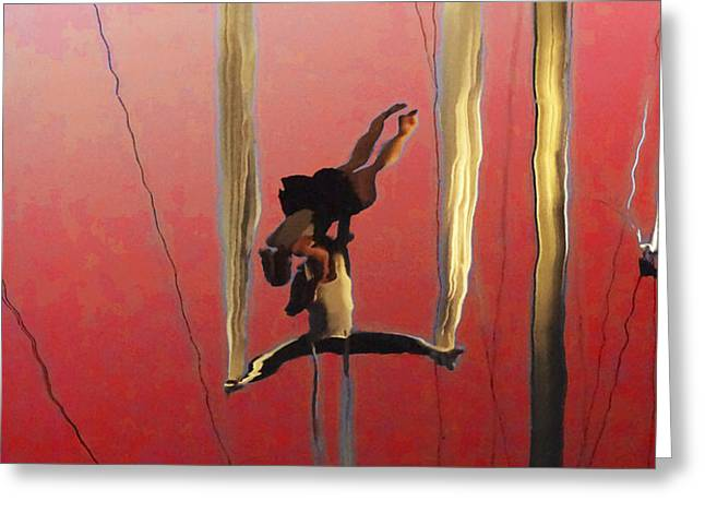 Acrobatic Aerial Artistry1 Greeting Card by Anne Mott