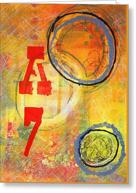 A Circle Symbol Greeting Cards - Acronym Greeting Card by Nancy Merkle