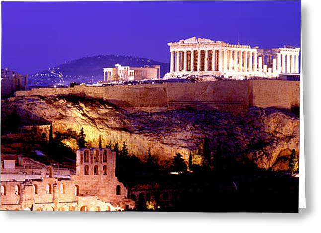 Acropolis Greeting Cards - Acropolis, Athens, Greece Greeting Card by Panoramic Images
