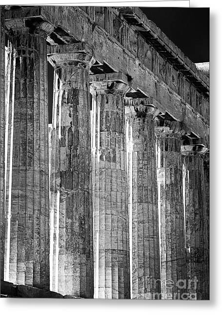 Greek Ruins Greeting Cards - Acropolis Columns Greeting Card by John Rizzuto