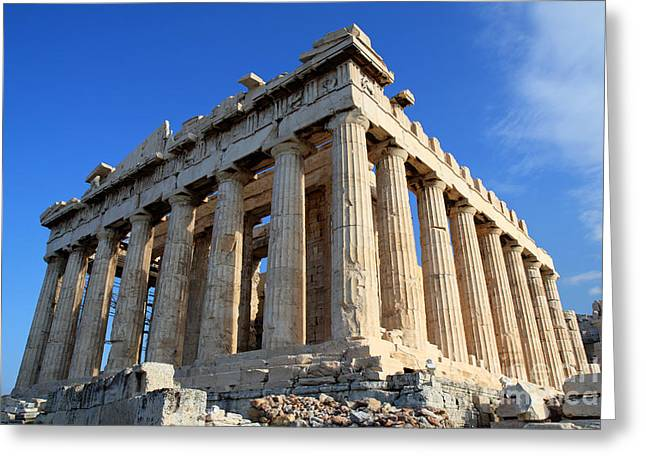 Greeting Cards - Acropolis of Athnes Greeting Card by Holger Ostwald