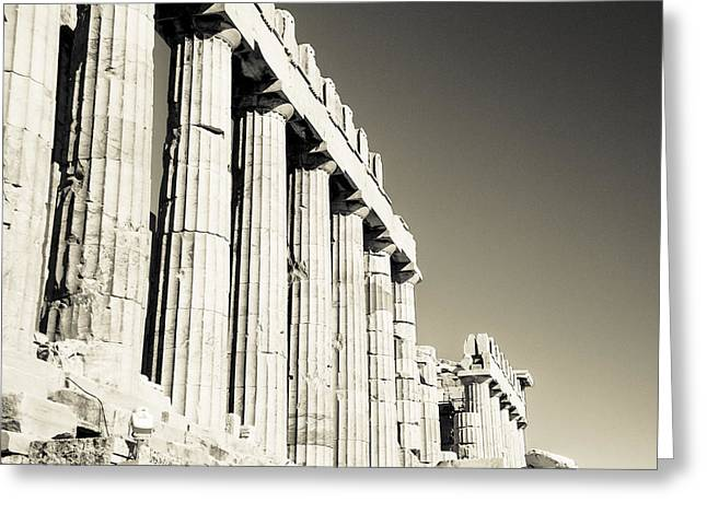 Pantheon Greeting Cards - Acropolis Pantheon Landscape Greeting Card by David Waldo