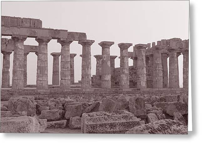 Archeological Greeting Cards - Acropolis Selinunte Archeological Park Greeting Card by Panoramic Images