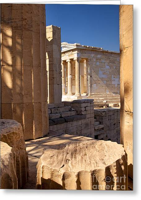 Acropolis Greeting Cards - Acropolis Temple Greeting Card by Brian Jannsen
