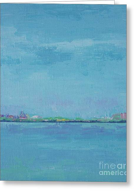 St Petersburg Florida Paintings Greeting Cards - Across the Bay Greeting Card by Gail Kent