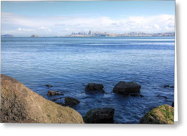 San Francisco Cali Greeting Cards - Across the Bay Greeting Card by JC Findley