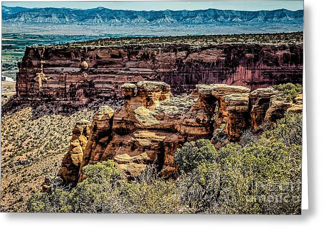 The Plateaus Greeting Cards - Across the Canyon Greeting Card by Jon Burch Photography