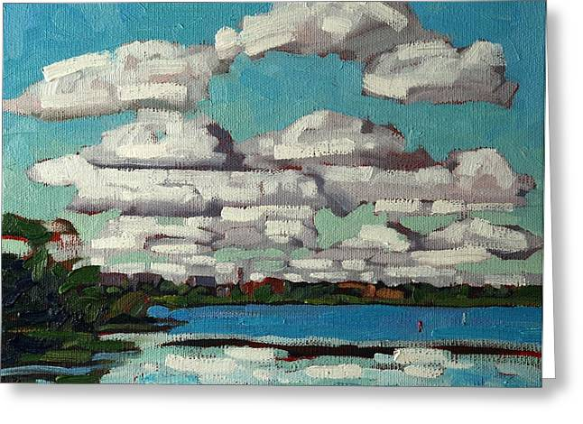 Canadian Greeting Cards - Across the Cataraqui Greeting Card by Phil Chadwick