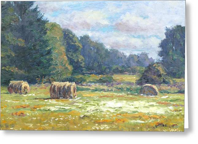 Across The Fields Greeting Card by Michael Camp
