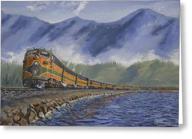 Locomotive Greeting Cards - Across the Great Northwest Greeting Card by Christopher Jenkins