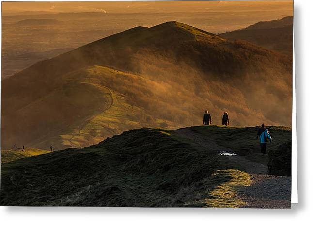 Across The Malverns At Sunset Greeting Card by Chris Fletcher