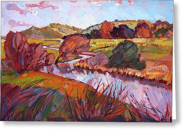 Loose Greeting Cards - Across the Plains Greeting Card by Erin Hanson