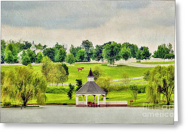 Reflection Harvest Greeting Cards - Across the Pond Greeting Card by Darren Fisher