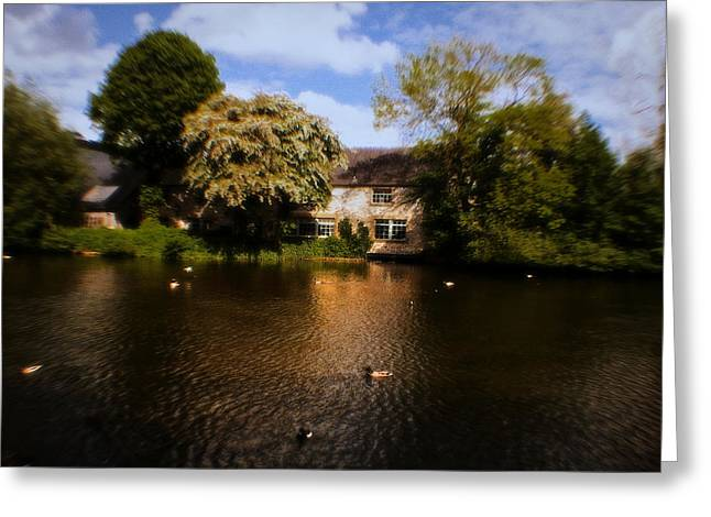 Across The River Weir At Bakewell - England Greeting Card by Doc Braham