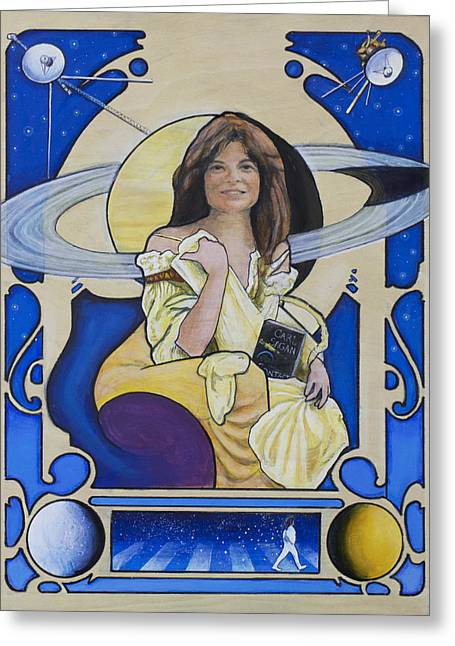 Saturn Greeting Cards - Across the Universe - Carolyn Porco Greeting Card by Simon Kregar