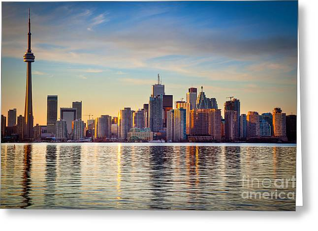Ontario Photographs Greeting Cards - Across the Water Greeting Card by Inge Johnsson