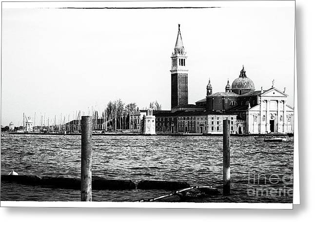 Across The Way In Venice Greeting Card by John Rizzuto