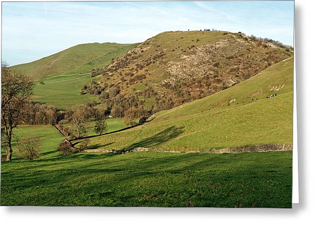 Derbyshire Greeting Cards - Across Thorpe Cloud to Bunster Hill Greeting Card by Rod Johnson