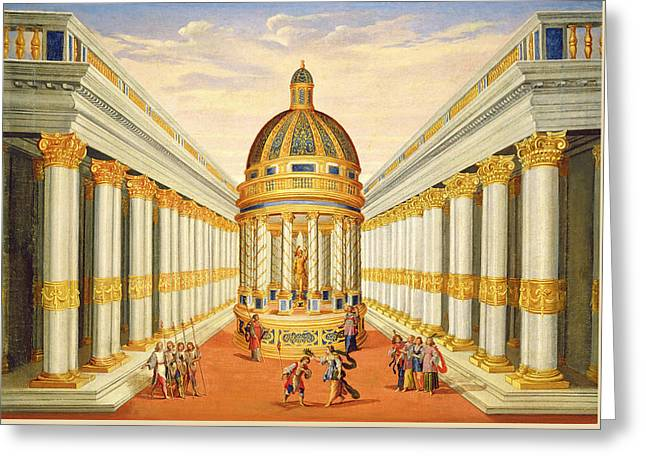 Bacchus Temple Greeting Card by Giacomo Torelli