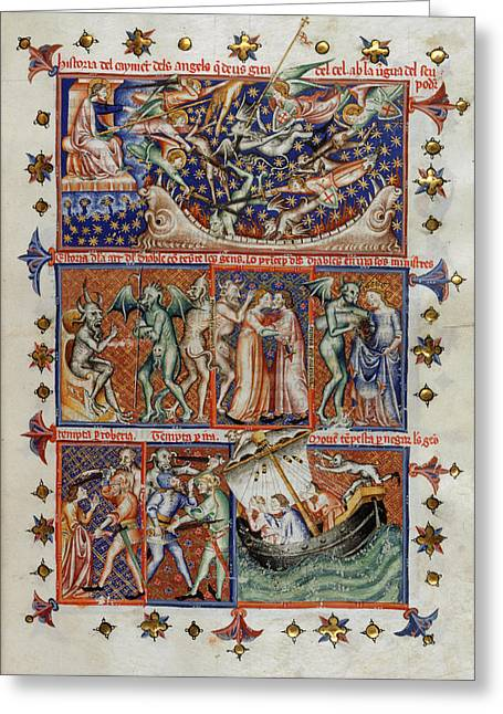 Actions Of Devils Greeting Card by British Library