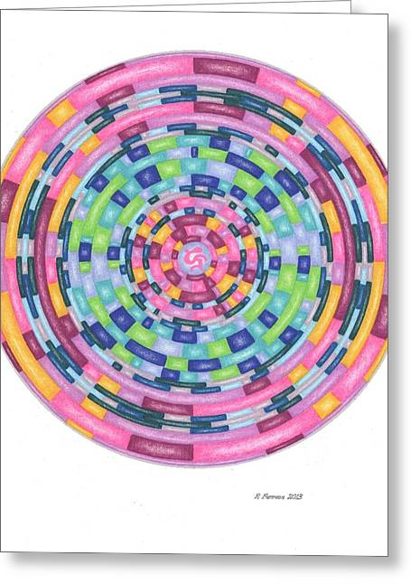 Sacred Drawings Greeting Cards - Activate Dormant Brain Capacity Template Greeting Card by Ruthie Ferrone