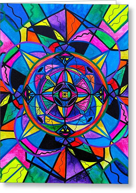 Geometric Art Greeting Cards - Activating Potential  Greeting Card by Teal Eye  Print Store