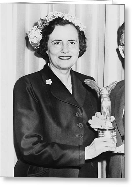 Activist Mary Lasker Greeting Card by Underwood Archives