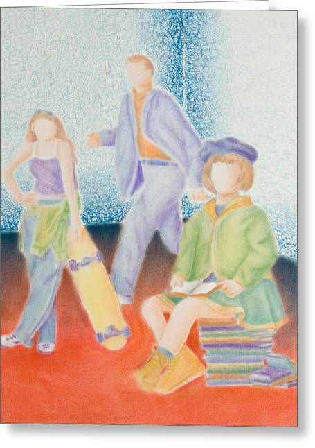 Library Pastels Greeting Cards - Activity Corner Greeting Card by Jeanette K