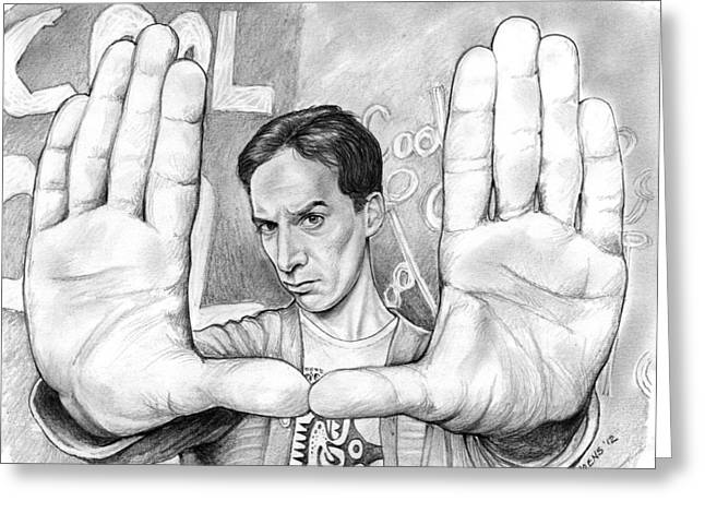 Indian Actor Greeting Cards - Actor Danny Pudi Greeting Card by Greg Joens