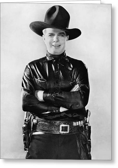 1936 Movies Greeting Cards - Actor Hoot Gibson Greeting Card by Underwood Archives