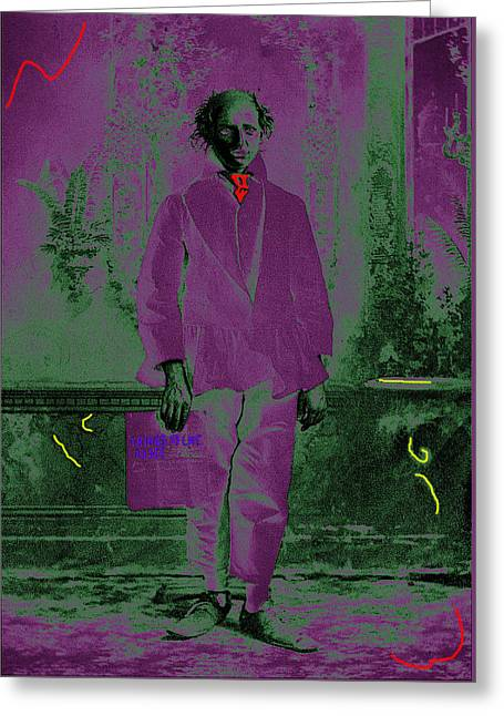 Blackface Greeting Cards - Actor in blackface Crystal Palace Theater Tombstone Arizona circa 1888-2008 Greeting Card by David Lee Guss