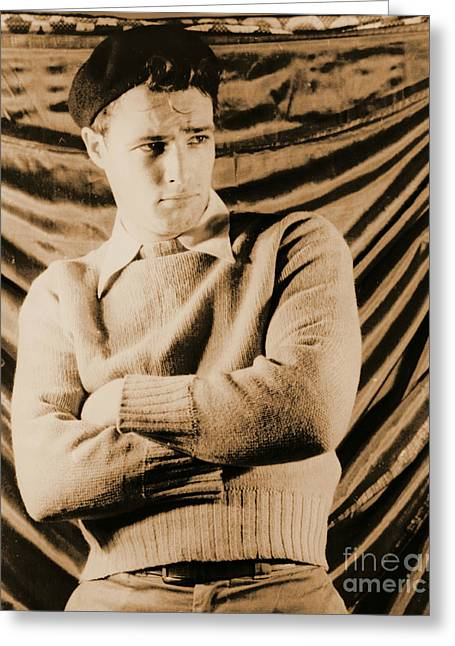 Actor Marlon Brando 1948 Greeting Card by Padre Art