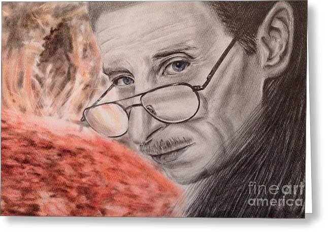Comedian Pastels Greeting Cards - Actor Pete Delorenzo Greeting Card by Keiko Olds