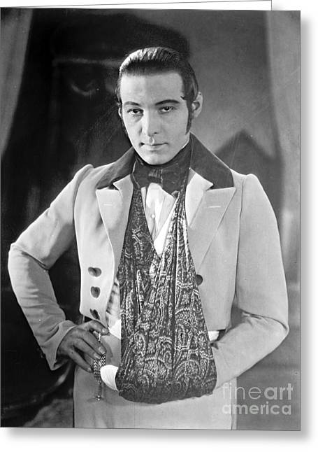 Actor Rudolph Valentino 1925 Greeting Card by Padre Art