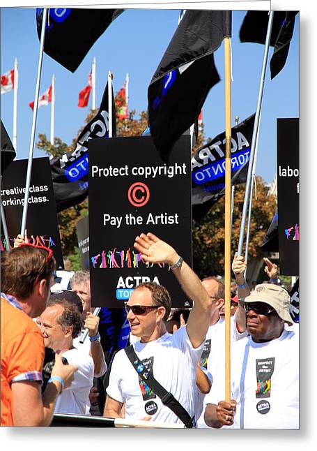 Labor Day Greeting Cards - ACTRA Toronto Union Members Greeting Card by Valentino Visentini