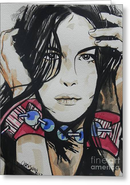 Sienna Greeting Cards - Actress ...Liv Tyler Greeting Card by Chrisann Ellis