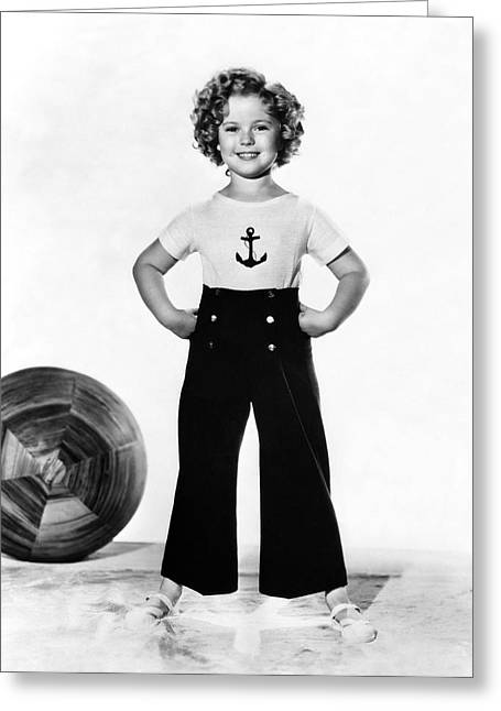 Actress Shirley Temple Greeting Card by Underwood Archives
