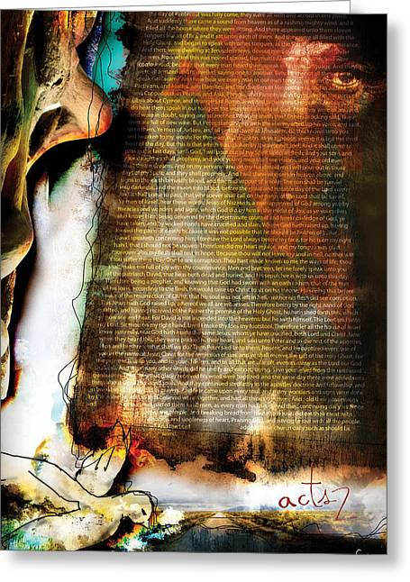 Pentecost Greeting Cards - Acts 2 Greeting Card by Switchvues Design