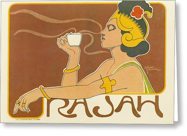 Ad Coffee, 1897 Greeting Card by Granger