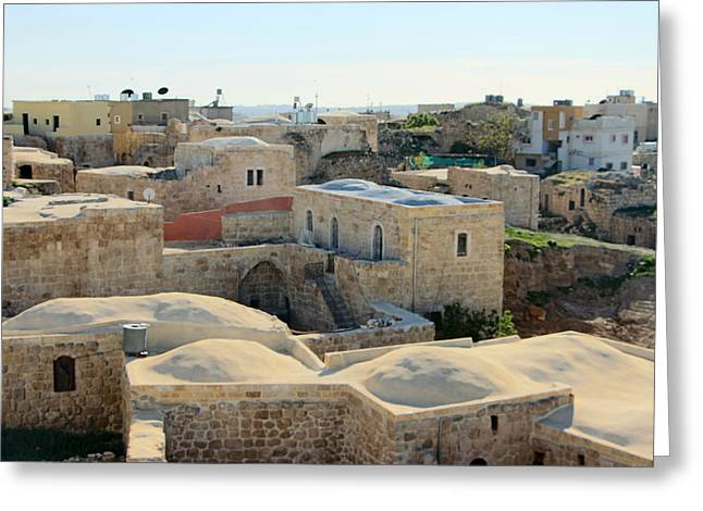 Hebron Greeting Cards - Ad Dhahiriya Houses Greeting Card by Munir Alawi